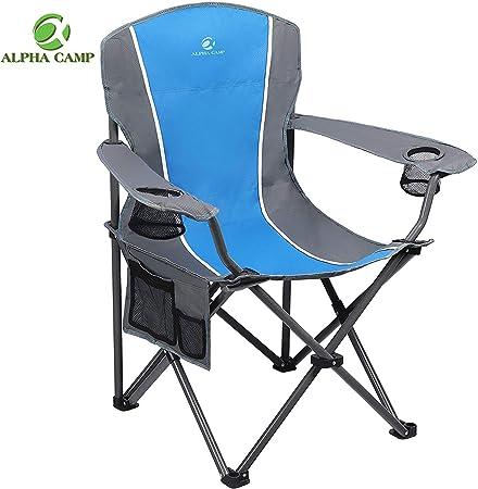 Amazon.com: ALPHA CAMP Silla plegable de camping de gran ...