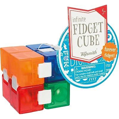 Toysmith Infinite Fidget Cube, Multi: Toys & Games