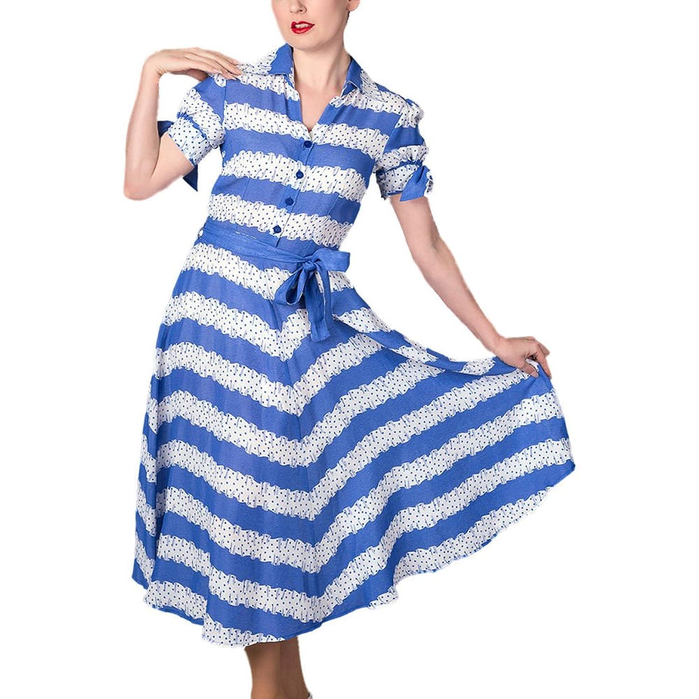 Seamstress Of Bloomsbury Iris 1940 Swing Blue Ribbons Dress Sizes 8 - 14