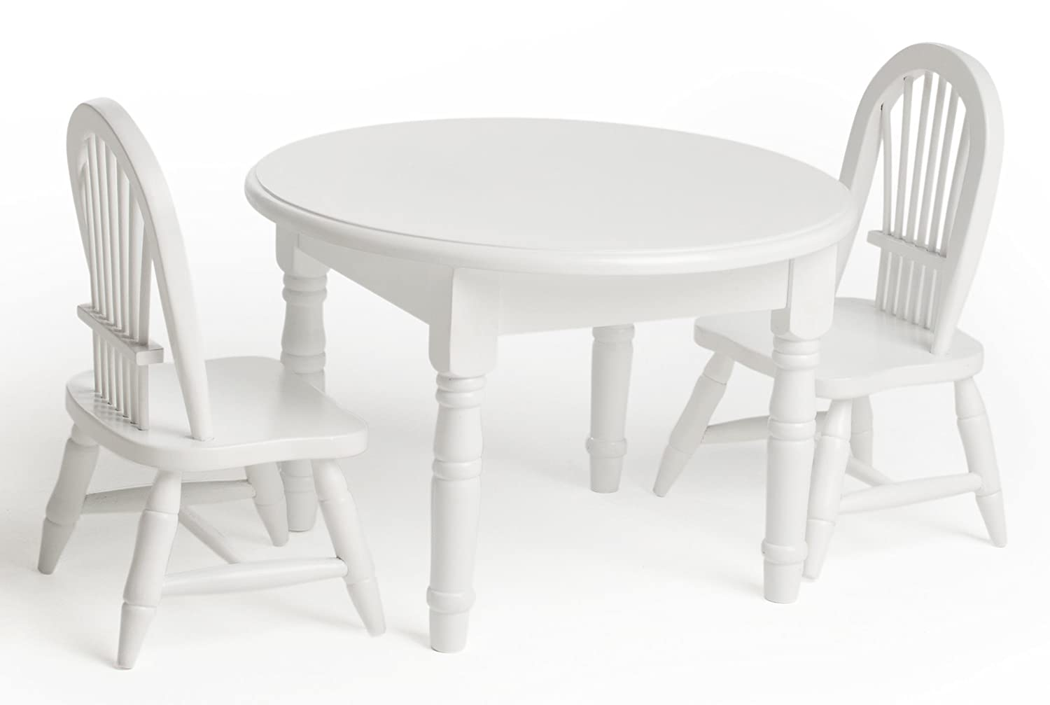 white wood doll furniture kitchen table and chair set fits girl dolls accessories wood amazon canada