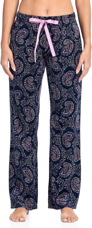 Ashford /& Brooks Womens Plush Mink Fleece Pajama Sleep Pants
