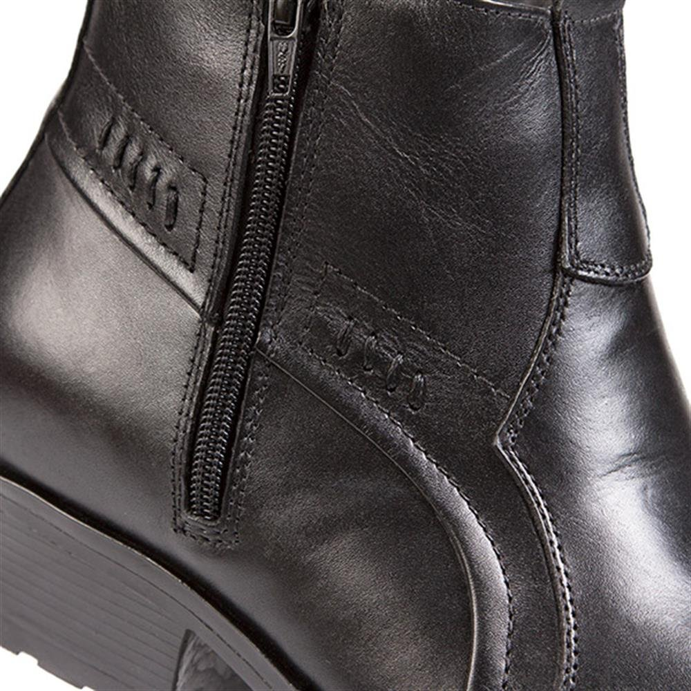 05f8834a55a Pavers Leather Boot with Cuban Heel & Stitch 123 079