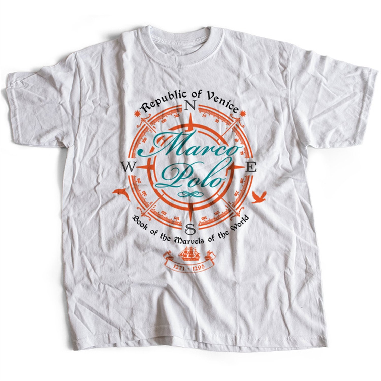 5002w Marco Polo Mens T-Shirt Explorer Adventure Classic Travels ...