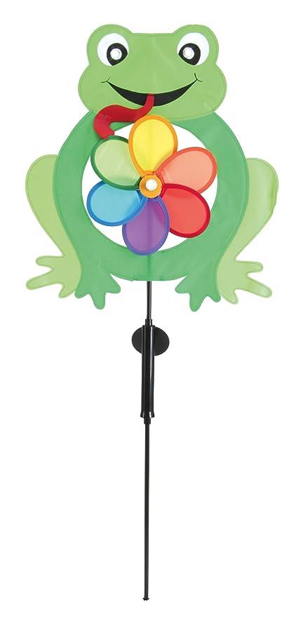 Motivo de Rana con Molinillo de Viento N/äve Baliza Solar Decorativa