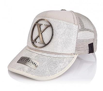 Xtress Exclusive Gorra blanca en piel blanca para hombre y mujer.: Amazon.es: Ropa y accesorios