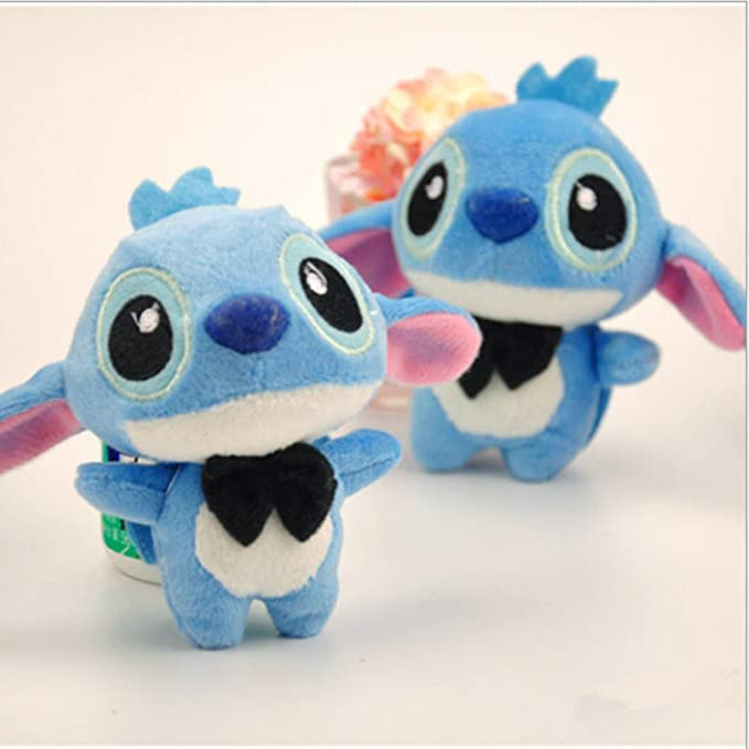 Amazon.com: 2pcs/pair Kawaii 11CM LOVERS LILO and Stitch Plush Stuffed TOY Phone Charm Strap BAG Key Chain Pendant TOY Wedding Bouquet TOY: Toys & Games