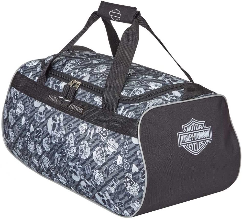 Harley Davidson Logo Sport Duffel Bag, Grey Tattoo, One Size