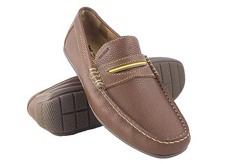 Zerimar Zapatos Hombre Mocasin | Zapatos Hombre casuales| Zapatos Hombre Verano| Zapatos Hombre vestir |Color Cuero Talla 46: Amazon.es: Zapatos y ...