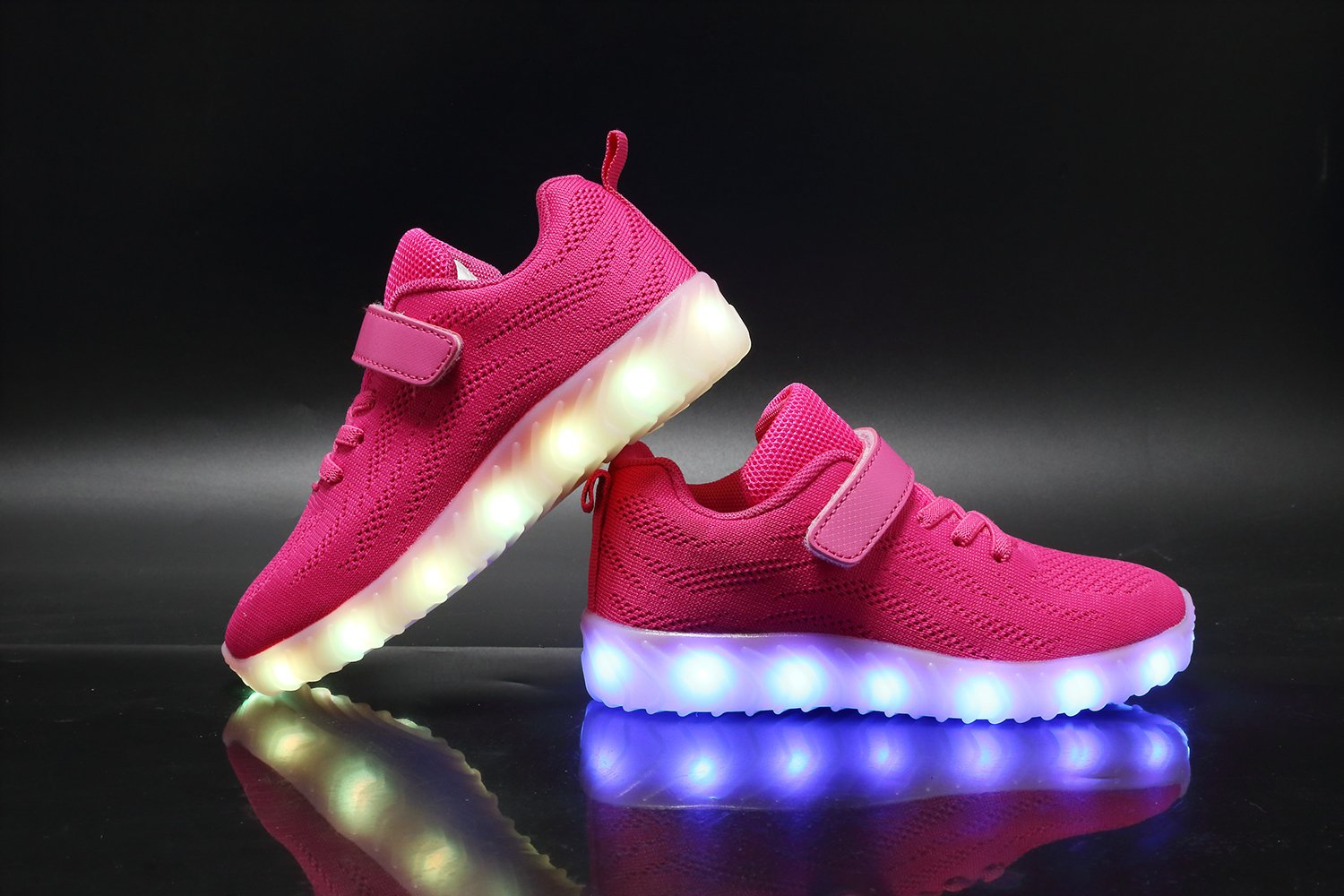 Nishiguang Breathable LED Light Up Shoes Luminous Flashing Sneakers for Boys Girls(Toddler/Little Kid/Big Kid)