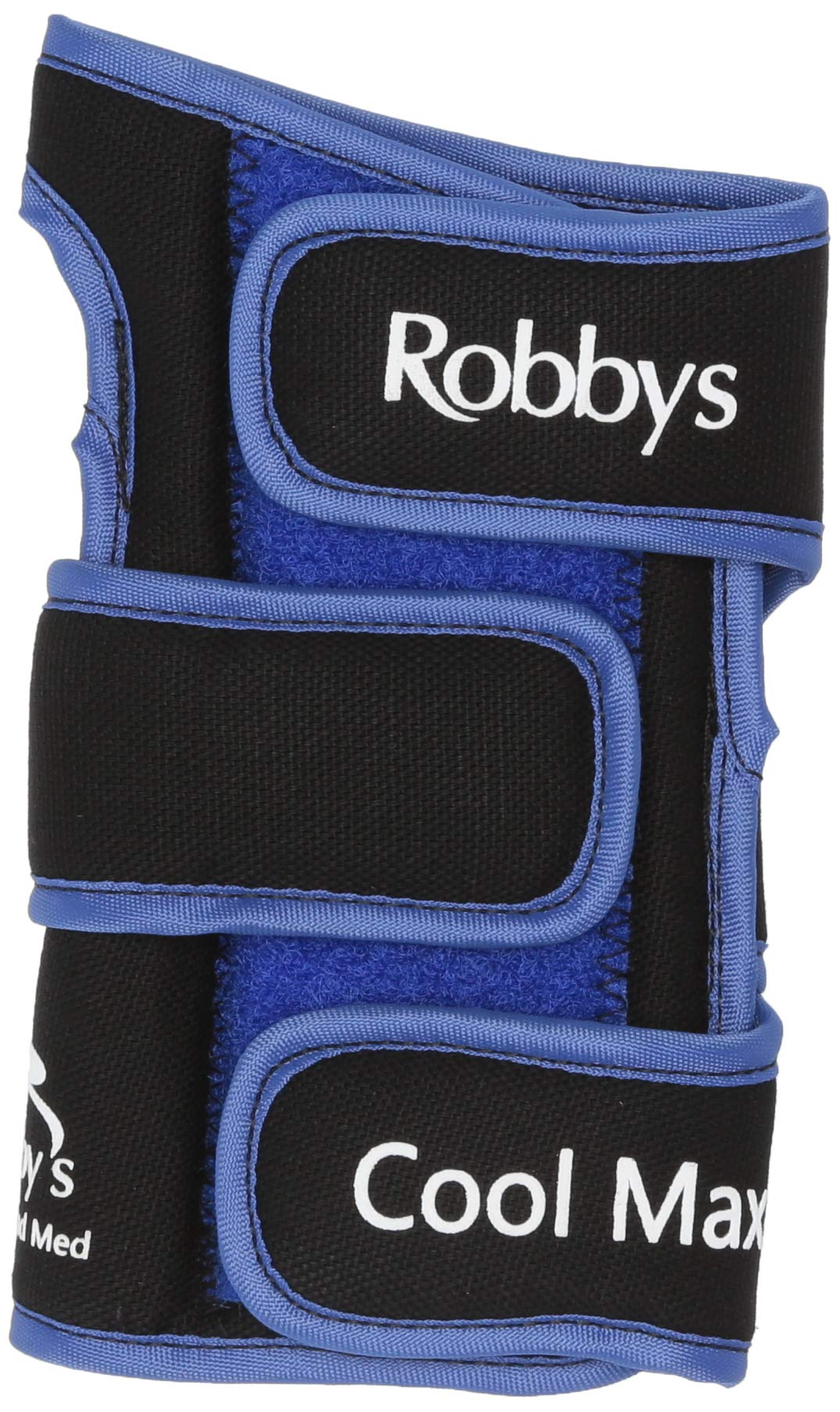 Robby's Coolmax Original Right Wrist Support, Black/Blue, Medium by Robby's