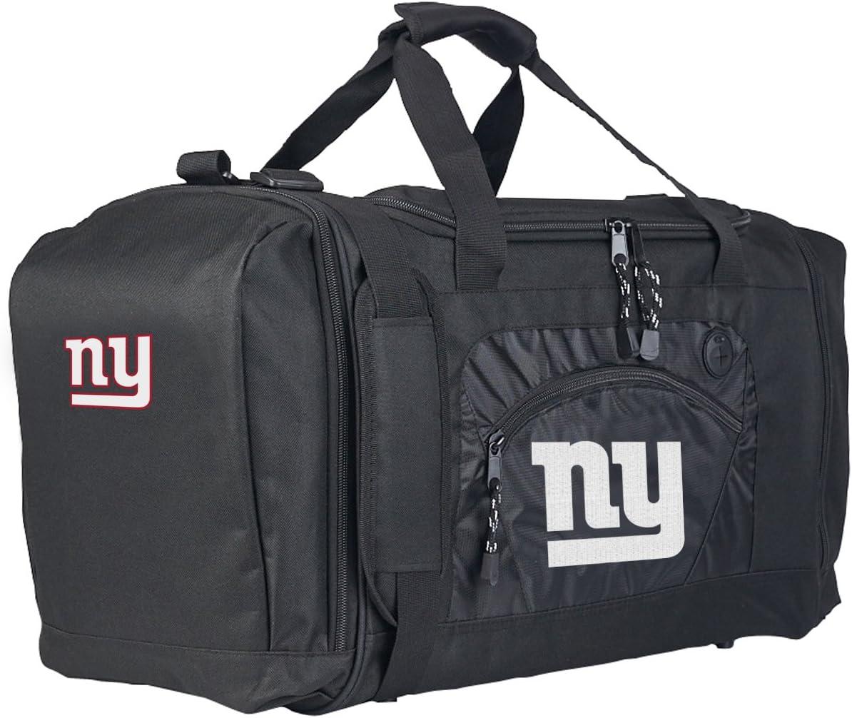 "Officially Licensed NFL ""Roadblock"" Duffel Bag , Black, 20"" x 11.5"" x 13"""