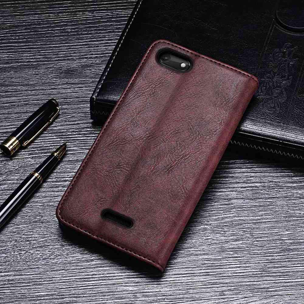 Amazon.com: Case for Wiko Harry 2, Leather Stand Wallet Flip ...