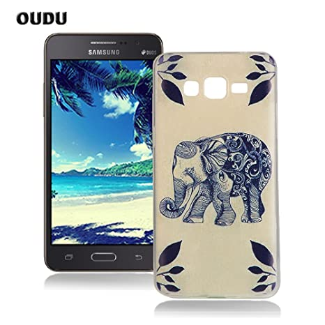 OuDu Funda para Samsung Galaxy Grand Prime G530 Carcasa Protectora Caso Silicona TPU Funda Suave Soft Silicone Case Cover Bumper Funda Ultra Delgado ...