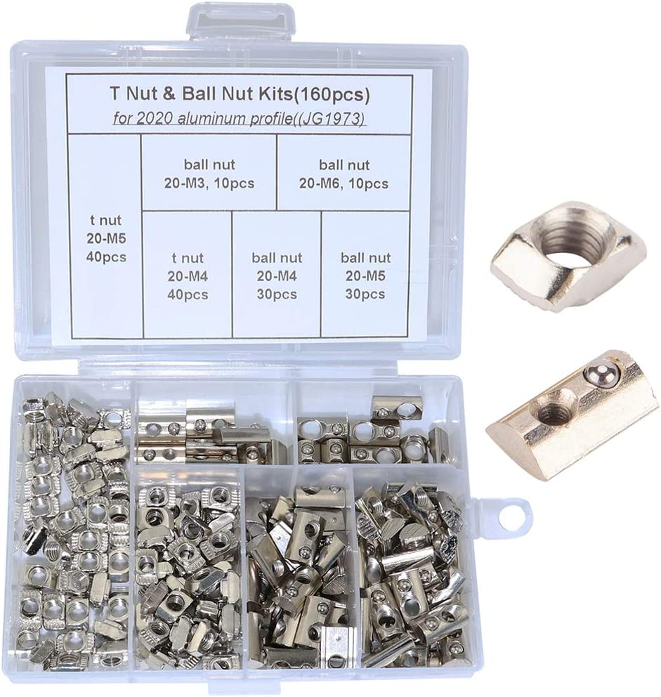M4 Roll in Spring Post Assembly T Nut for Metric 2020 Aluminum Extrusions Pack of 50