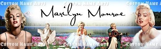 "Marilyn Monroe Poster Banner 30/"" x 8.5/"" Personalized Custom Name Printing"
