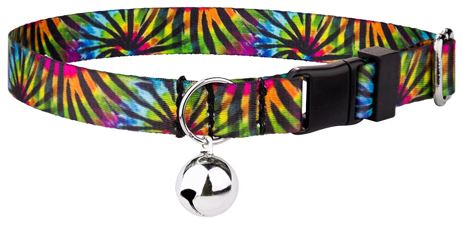 Country Brook Petz Tie Dye Stripes Featherweight Cat Collar