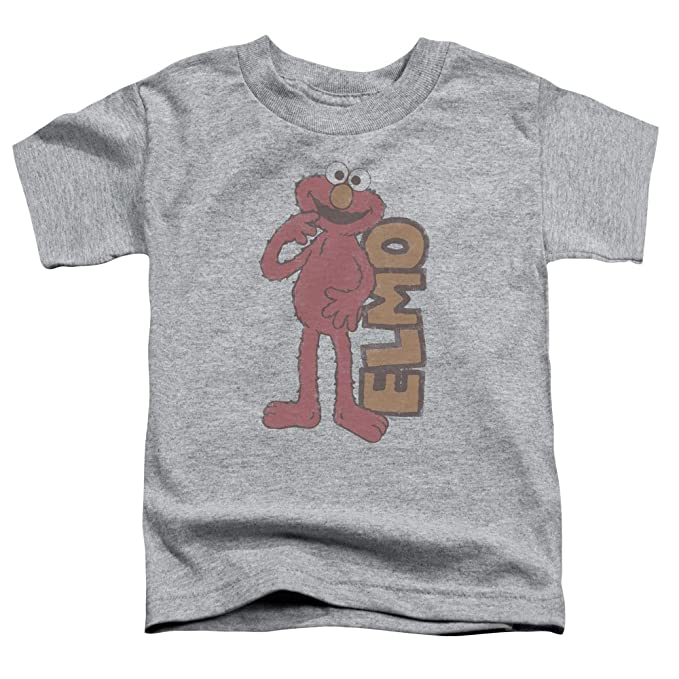 4f2bec1de Sesame Street Toddlers Vintage Elmo T-Shirt, 2T, Athletic Heather