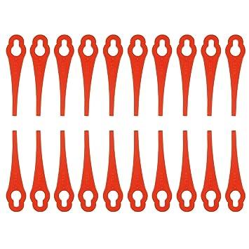 100 cuchillas de plástico para desbrozadora de batería Florabest ...