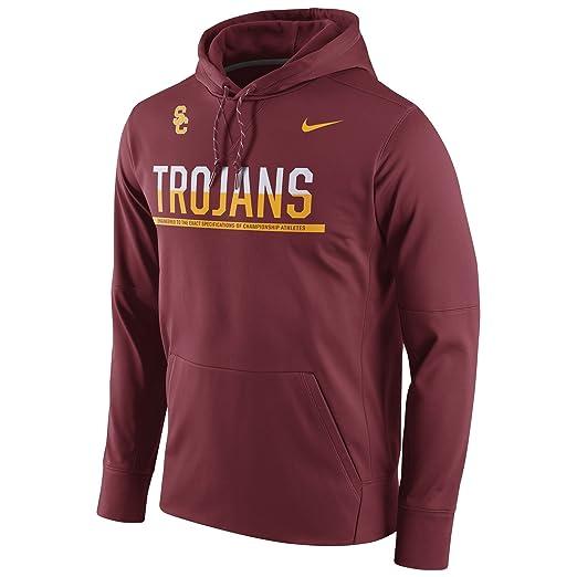 Amazon.com  Nike USC Trojans College Sideline Pullover Hoodie Size ... b186d35e6