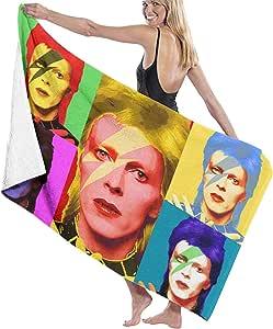 David Bowie Toallas de playa absorbentes sin arena, toallas de natación de microfibra ultraligeras, toallas de camping, toallas de fitness, toallas de yoga