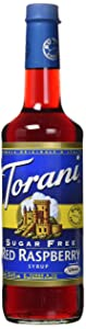 Torani Sugar Free Raspberry Syrup (750 mL /25.4 oz)