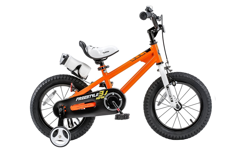RoyalBaby BMX Freestyle Kids Bike Boy's Bikes and Girl's Bikes with training wheels Gifts for children 12 inch wheels Orange [並行輸入品] B078BR418J