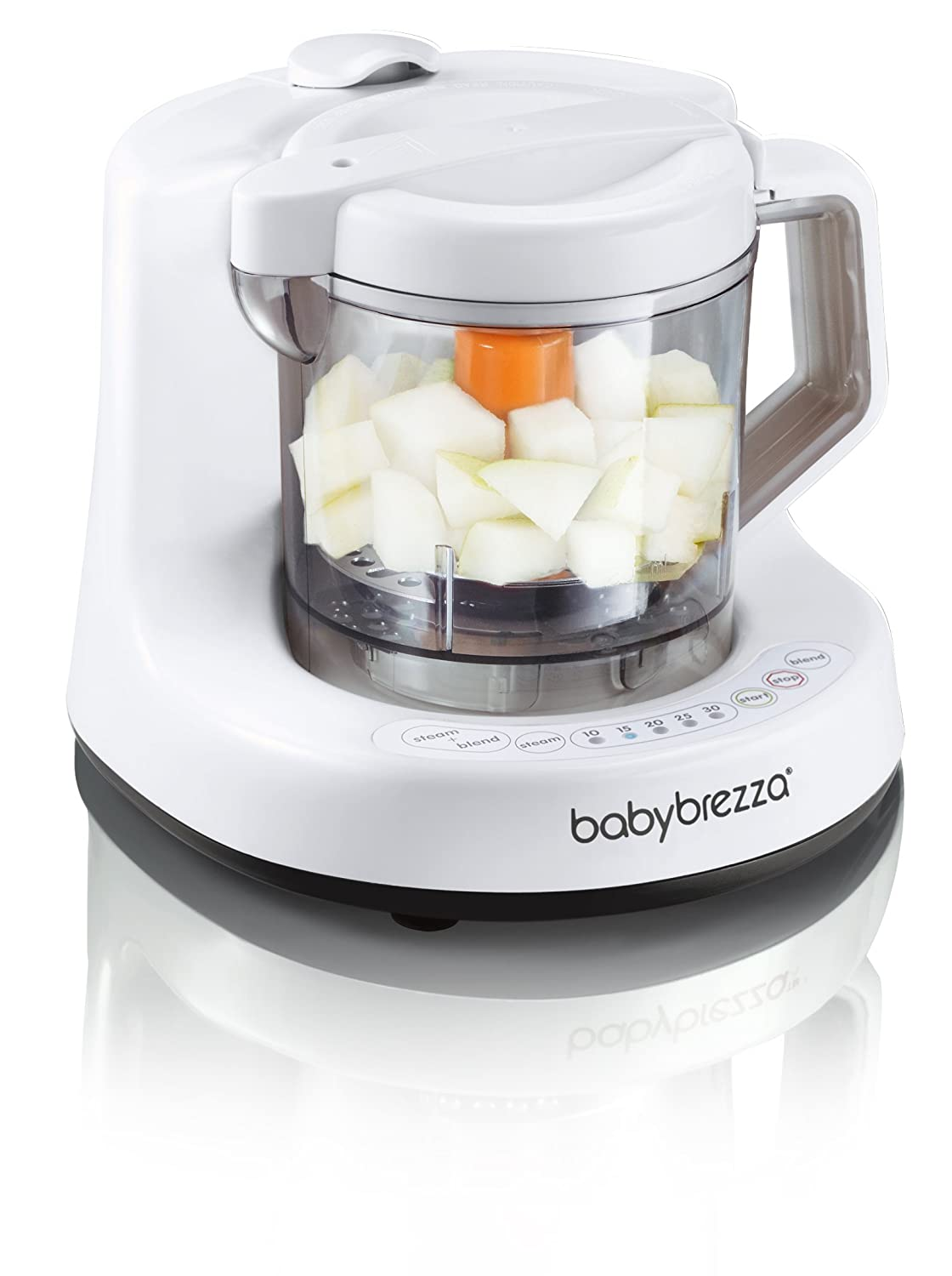 Baby Brezza Baby Food Maker Machine - One Step Cooker and Blender to Steam and Puree Baby Food For Pouches - Mixes Organic Food for Infants and Toddlers BRZ9043