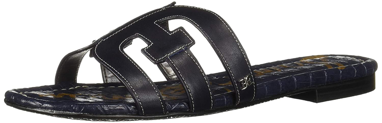 Baltic Navy Leather Sam Edelhomme Femmes Slide Chaussures 37 EU