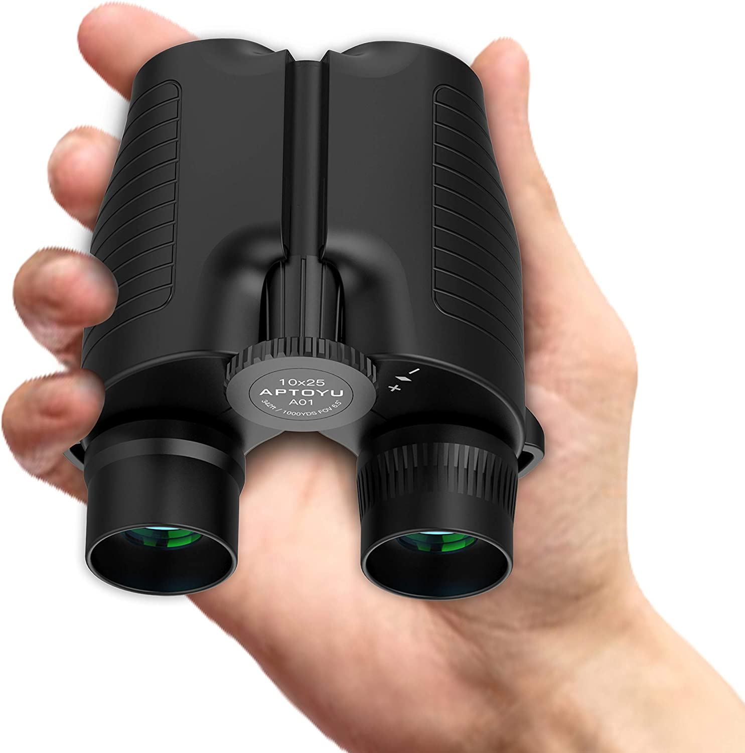 10x25 HD Roof Prism Folding Binoculars by Aptoyu