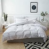 Merryfeel Seersucker Duvet Cover Set, 100% Cotton Yarn Dyed Seersucker Stripe Duvet Cover with Pillowshams,3 Pieces…