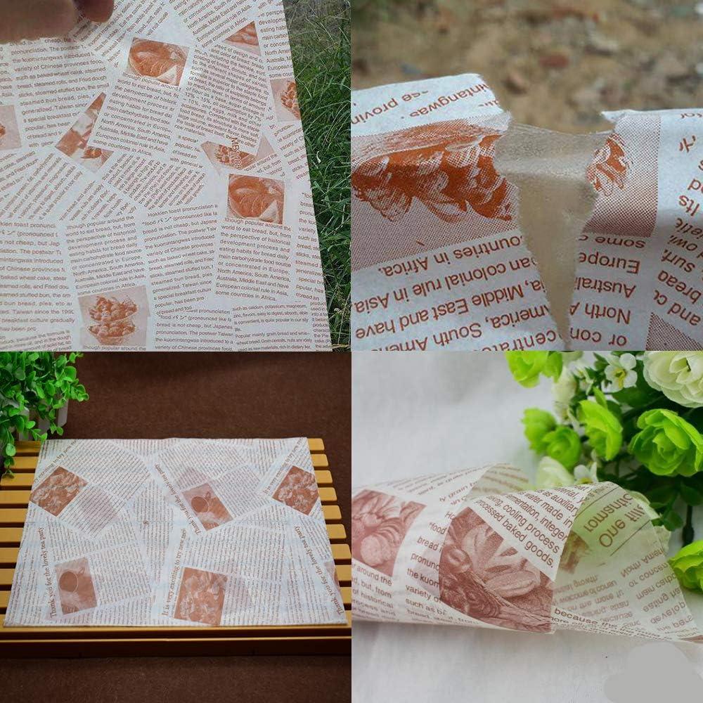 Matrimonio Compleanno Ziyero 100 Fogli Carta Oleata per Cera Carta da Imballaggio Monouso da Forno Carta da Imballaggio per Pasticceria Adatto a Famiglia Festa Decorazione della Tavola Bar ECC