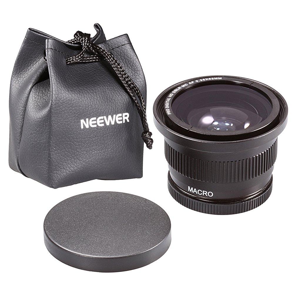 9d89c806abdfb Neewer 58 mm 0.35 x Super lente gran angular ojo de pez w Macro Close Up  lente de conversión para DSLR Cámaras  Amazon.es  Electrónica