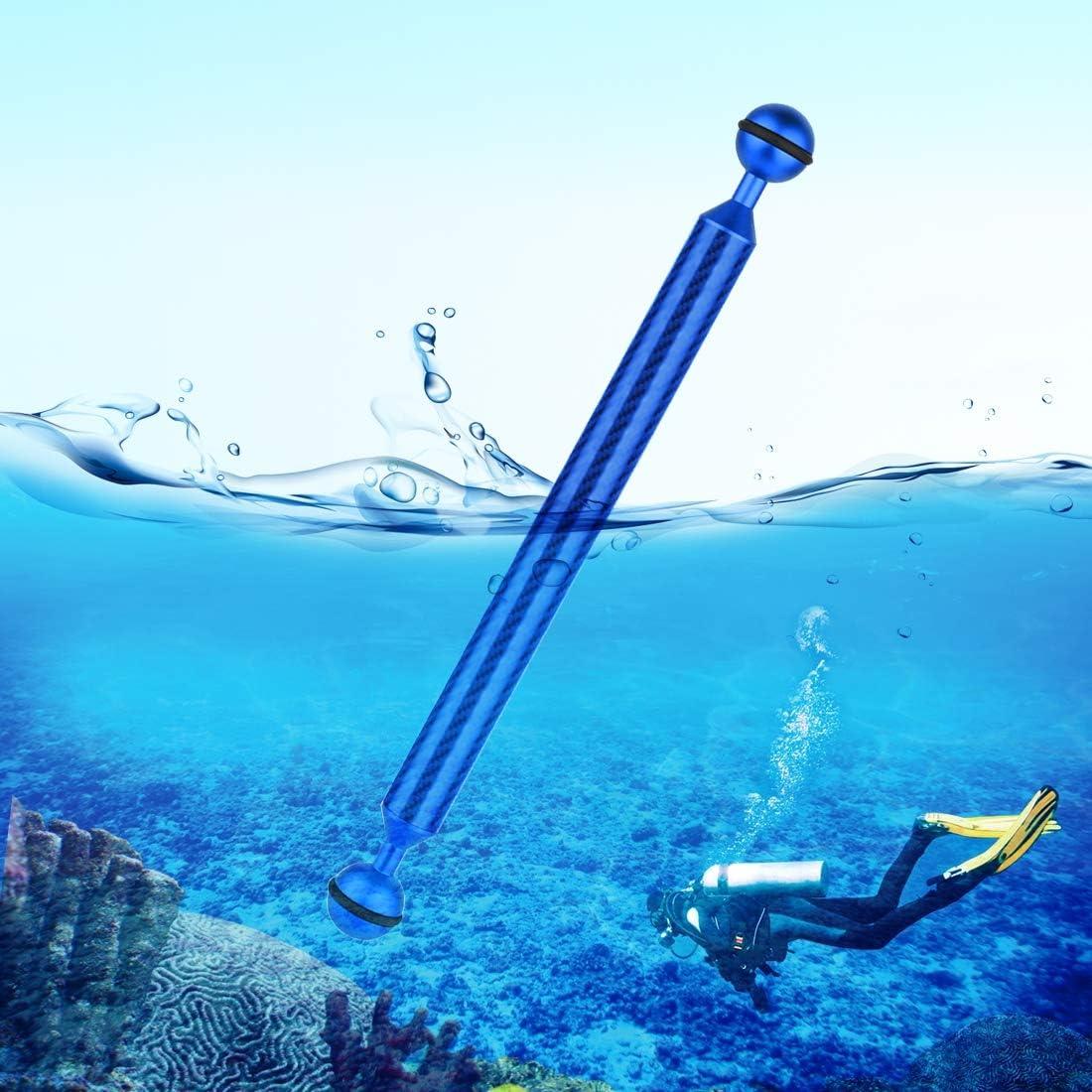GuiPing 11 inch 27.9cm Length 20.8mm Diameter Dual Balls Carbon Fiber Floating Arm Ball Diameter 25mm Durable Color : Black