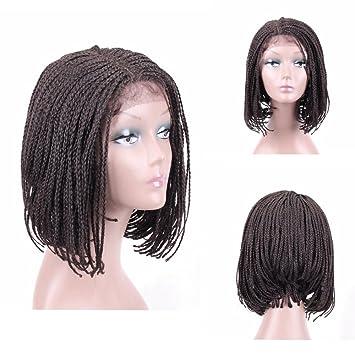 386b3c1b105 HAIR WAY Box Braided Wigs Bob Lace Front Wig for Black Women Glueless Short  Bob Braided Lace Wig...