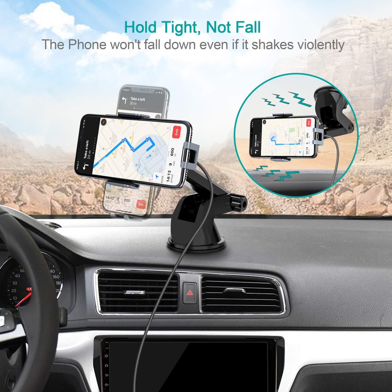Galaxy S10//S9//S8 15W// 10W// 7,5W Bloccaggio Automatico con Ricarica Rapida Wireless Auto Vento Supporto Telefono per iPhone Xs//XR//8 Plus CHOETECH Caricatore Wireless Auto LG V30 HUAWEI P30 Pro