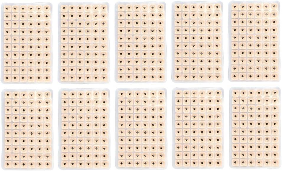 GLOGLOW 600 Unids Presión Oído Desechable Semillas Acupuntura Vaccaria Plaster Bean Acupoint Masaje Multi-Condition Ear Seed Kit de acupresión Herramienta