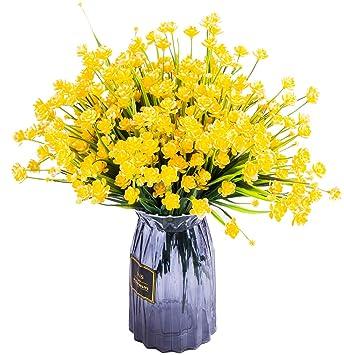 Amazon Foraineam 10 Bundles Yellow Daffodils Artificial Flowers