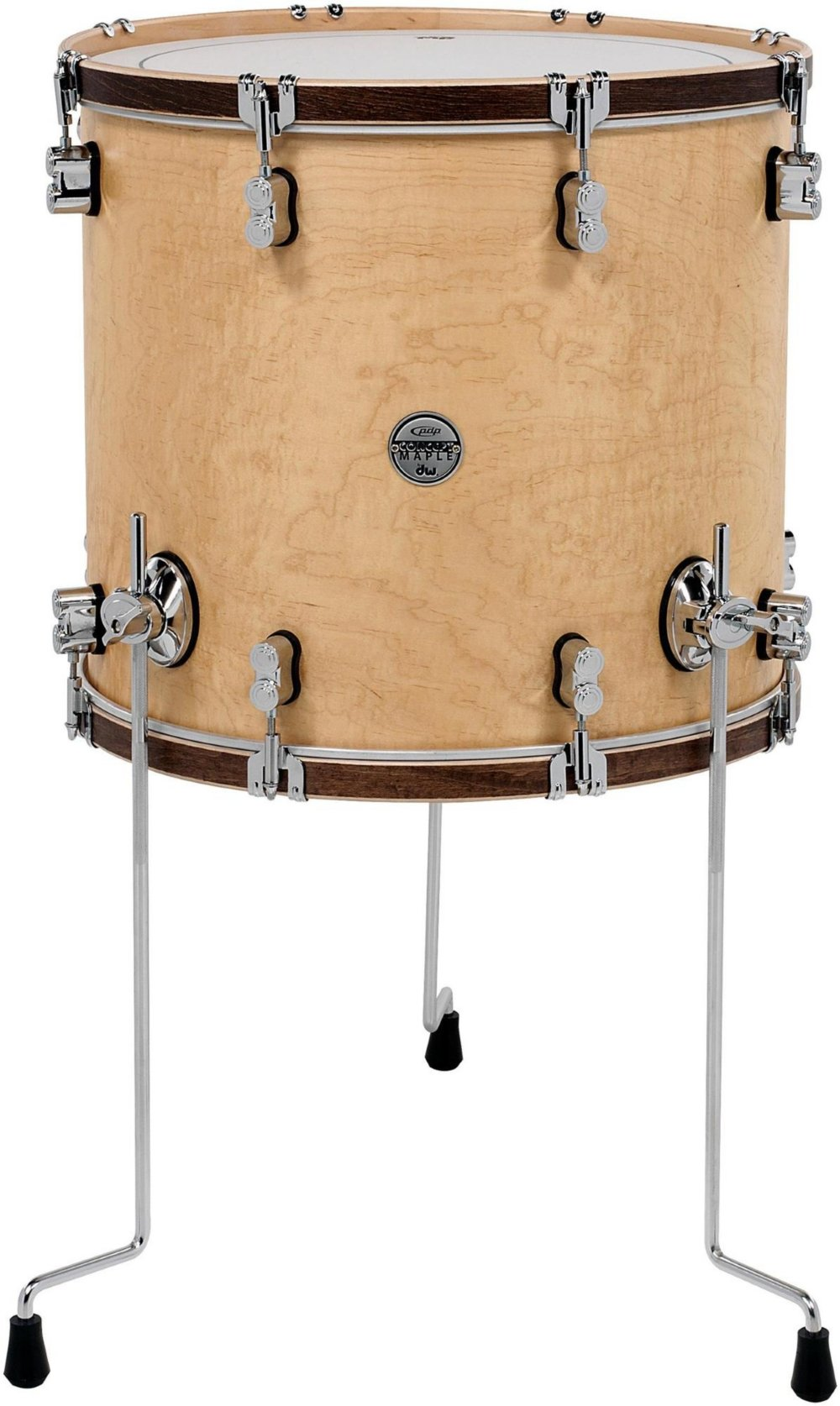 PDP Concept Maple Classic 14''x14'' Floor Tom - Natural with Walnut Hoops
