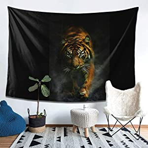 Tiger Tapestry Wall Hanging 3d Printing Blanket Wall Art For Living Room Bedroom Home Decor (80x60in)