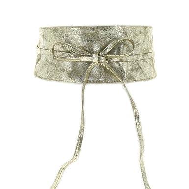 FASHIONGEN - Ceinture Obi ERYN, pour robe, tunique et autres - Beige, Taille 9e8a61bf278