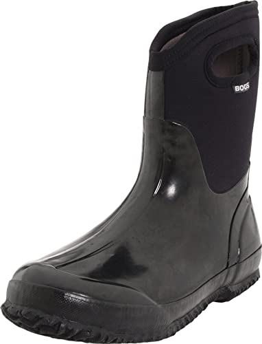 36c251e4e6 Bogs Women's Classic Mid Shiny Winter Snow Boot: Amazon.co.uk: Shoes ...