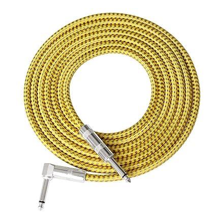 Womdee Cable de Guitarra para Mujer, Serie de Rendimiento, Cables de Instrumentos, Cable