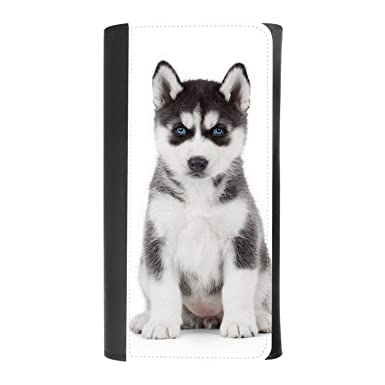 Adorable Little Baby Husky Women S Patterned Leather Buckle Trifold