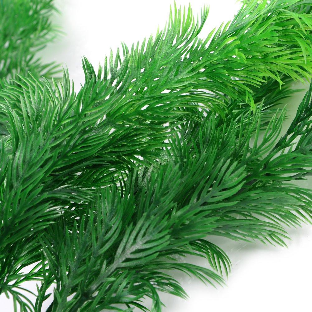 Oshide Plantes artificielles dherbe de Simulation D/écorations daquarium Am/énagement paysager