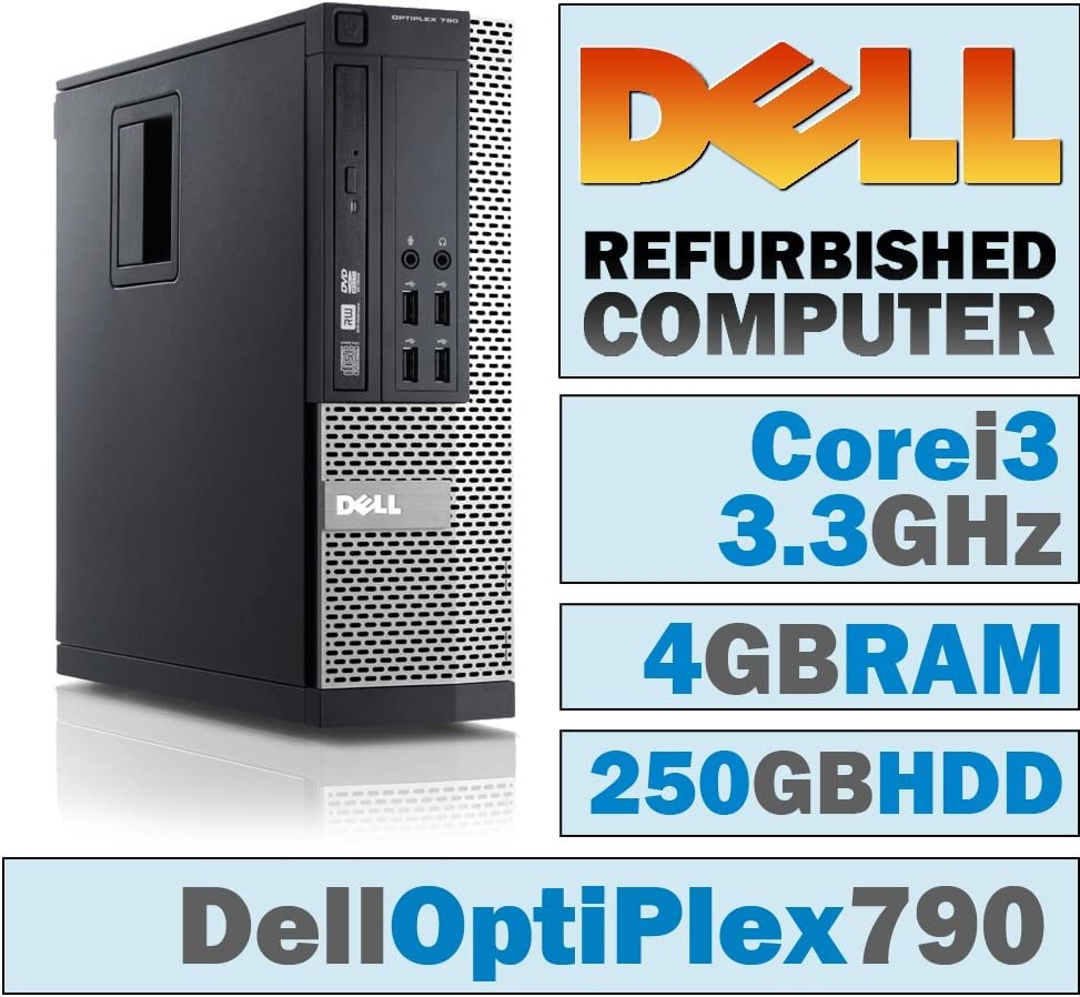 Dell OptiPlex 790 SFF/Core i3-2120 @ 3.3 GHz/4GB DDR3/250GB HDD/DVD-RW/No OS