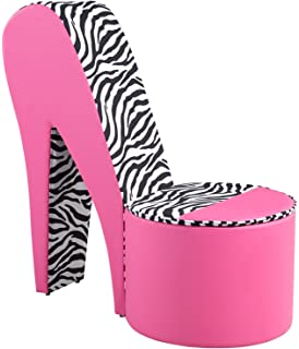 Stiletto Stilletto Zebra U0026 Hot Pink Ottoman Chair