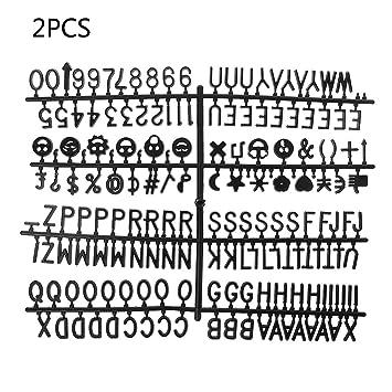 FURU - Letras para pizarra de fieltro, 340 unidades para ...