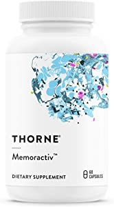 Thorne Research - Memoractiv - Botanicals and Nutrients for Cognitive Function and Mental Focus - Ashwagandha, Acetyl-L-Carnitine, Ginkgo - 60 Capsules