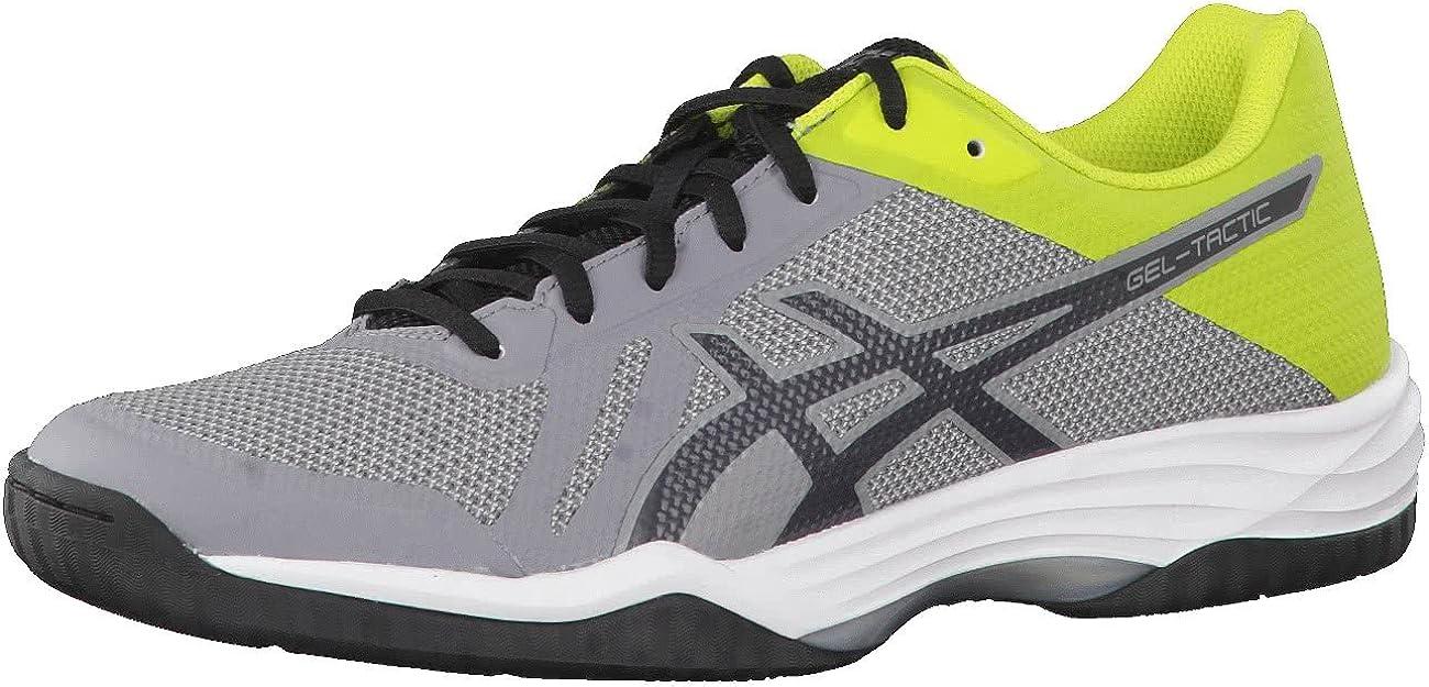 Asics Gel-Tactic, Zapatillas de Gimnasia para Hombre, Gris (Aluminum/Dark Grey/Energy Green 000), 48 EU: Amazon.es: Zapatos y complementos
