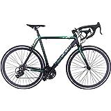 Road Bike Aluminum Commuter Bike Shimano 21 Speed 700c x 25c Racing Bicyle Sport Life Black 58cm
